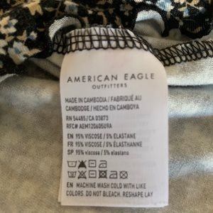 American Eagle Outfitters Tops - AE Floral Lettuce Edge Tank